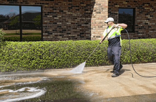 commercial concrete cleaning in irving