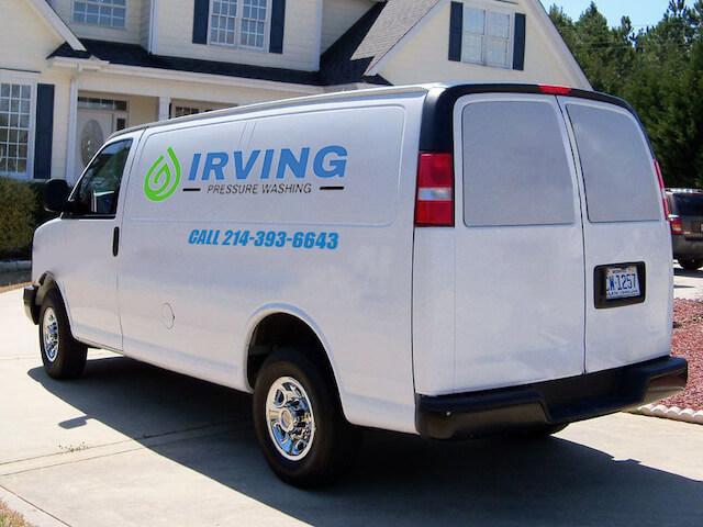 irving pressure washing van